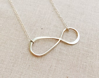 Sterling Silver Infinity Necklace, Sterling Silver Chain, Best Friends Necklace, Birthday Gift, Everyday Necklace, Infinity Charm Necklace