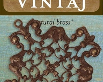 Vintaj 52x49mm Maltese Filigree (1 pc/pkg)