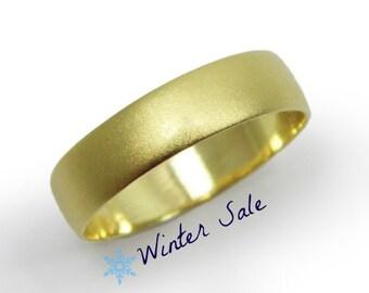 Classic wedding band- 14k yellow gold 5mm wedding ring  (gr-9380-1494). men women wedding ring, hes and hers ring. wedding ring
