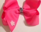 Hot Pink Bow/Large Hairbow/Teen Hair Bow