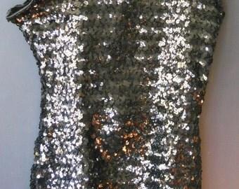 adult black 1 piece zipper back costume squin shimmer