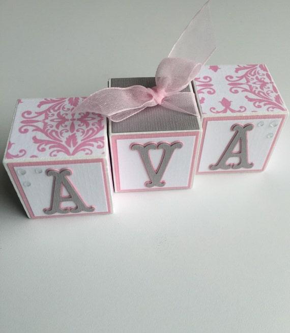 Baby Boy Gifts With Name : Custom baby name blocks gift shower newborn nursery