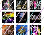 Dance The Night Away (#2) 1 inch Square Tile Images 4x6 Digital Collage Sheet Instant Download