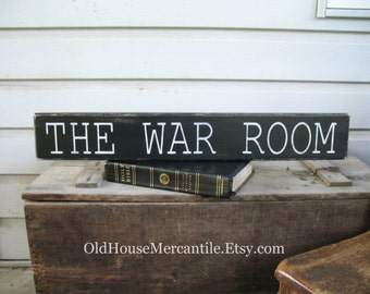 War Room - Prayer Room - Prayer Corner - shelf sitter hand painted sign