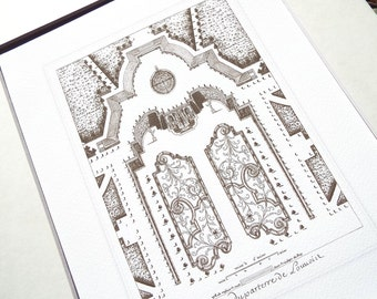 French garden plan Etsy