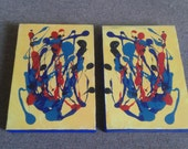 African Sun. Pair of paintings from South Africa. Can be arranged in various ways.