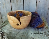 Wooden yarn bowl, hand turned in ash