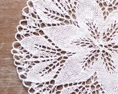 White  knitted Vintage Doily Lace doily centerpiece