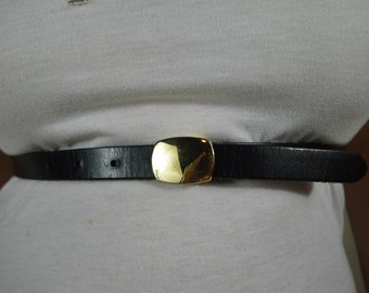 Vintage Black Express Skinny Belt