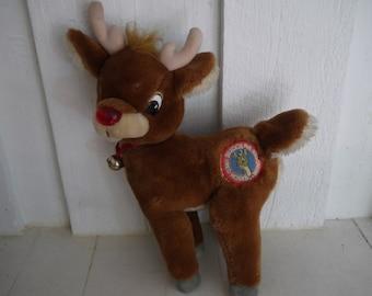 Vintage Rudolph Stuffed Animal