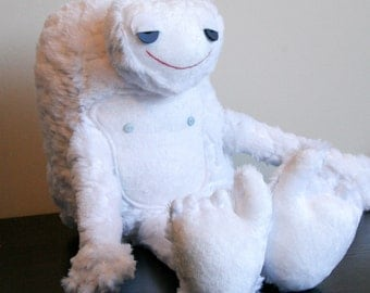 Bobsled the Yeti. As Seen in STUFFED MAGAZINE! Fluffy, White, Sasquatch. Stuffed Animal, Softie, Plushie, Fun Kids Toy. Makes a Great Gift!