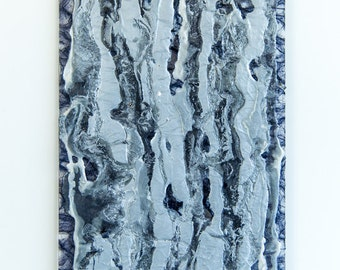 """Black and Silver Abstract  6 x 16"""""""