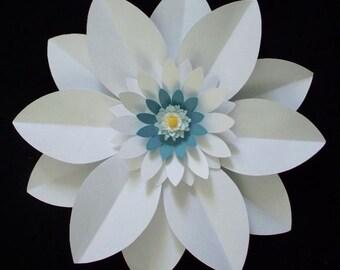 Large Paper Flower,Nursery Paper Flower,Wedding Backdrop,White Paper Flower,Backdrop,Wedding Chair,Paper Bouquet,Nursery Flower backdrop