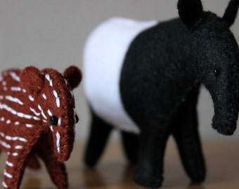 Mother and Baby Tapir Ready to Ship