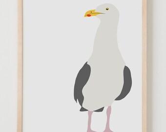 Fine Art Print. Seagull, August 6, 2013.