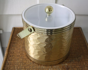 Vintage ice bucket, Drulane ice bucket, mid century ice bucket, Hollywood Regency