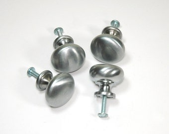 Vintage Pull Knobs Brushed Nickel Set of Four