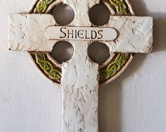 Irish Personalized Cross with Celtic Knot