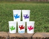 5 Airplane Themed birthday party favor cups
