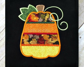 embroidered  fall pumpkin shirt for women, fall colors and fabrics, Halloween Thanksgiving shirt, fall fabric pumpkin