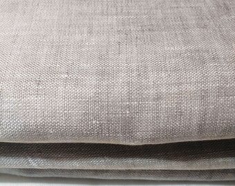 Linen fabric 100% linen fabric Natural linen textile Neutral colour Grey ECO friendly product Natural fiber European linen textile, 1/2 yard