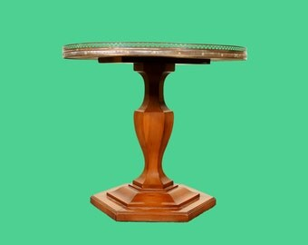 Side Table with Brass Edge French Style