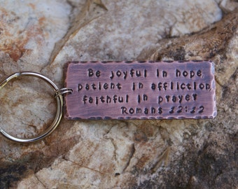 NEW** Extra wide personalized quote copper key chain