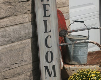 Welcome Reclaimed Barn Wood Porch Sign