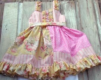Sweet Mia Dress back to school Floral Ruffle Dress, Baby Toddler Party Dress Girls Sweet N Sassy Ruffle Pants - Capri's 6916