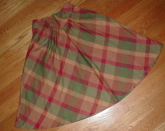 Tomboy Size 11 Skirt *Muted Colours* Plaid Pleated *Nicely Flared*