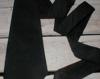 Vintage Wide Polyester Necktie *Black On Black Geometric Design* Mr D's *Retro 70s Tie*