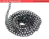 SALE 5 YARDS of Black Shiny Chains Links Trim for Crafts