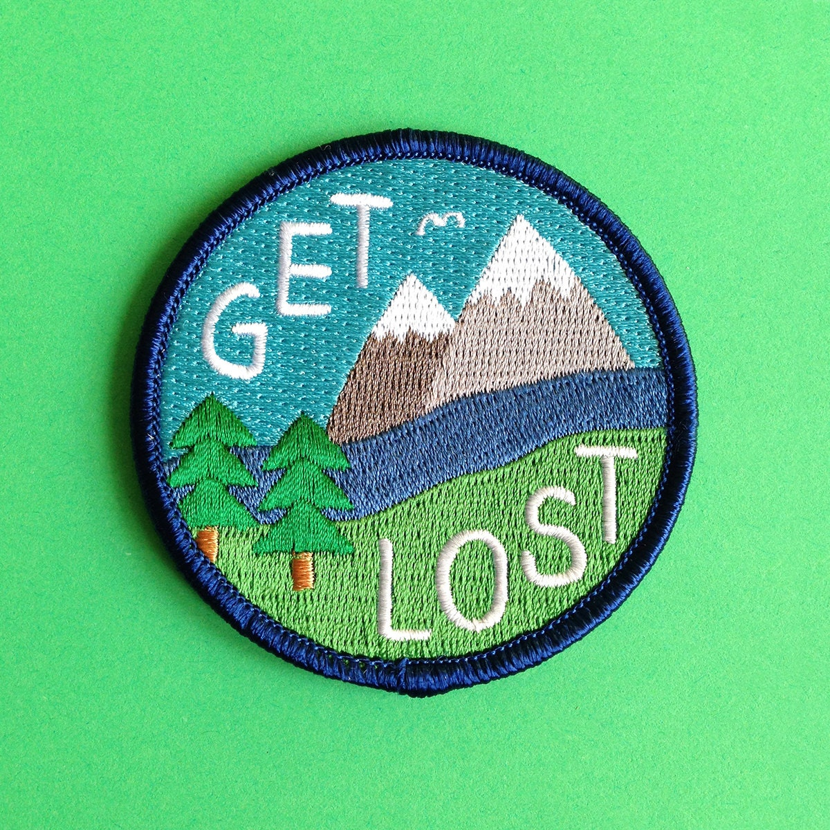 Get lost embroidered patch funny iron on explore