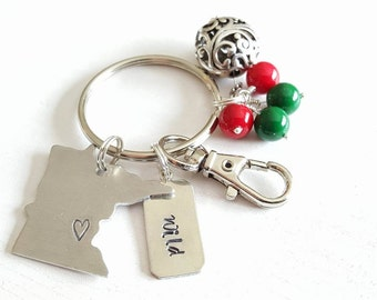 Minnesota Key Chain (Wild)