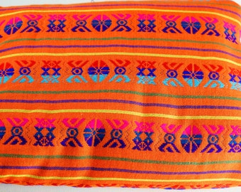 "Mexican Fabric, Beautiful orange 31"" width by one yard."