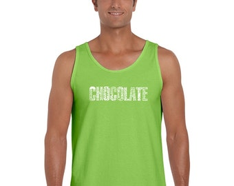 Men's Tank Top - Different foods made with chocolate