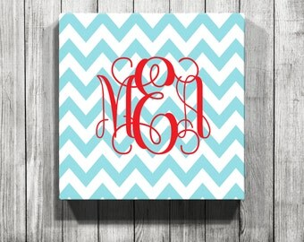 Personalized Chevron Gallery Wrapped Canvas
