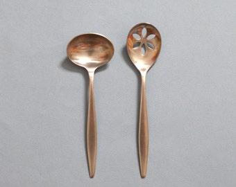 Vintage Dalia Spain Serving Spoons Set of 2
