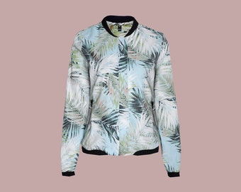 ALOHA bomber jacket with tropical print