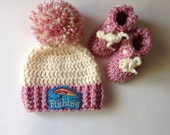 Infant fishing hat and bootie set