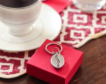 Coffee Bean Keychain- Coffee Lover Gifts- Coffee Addict