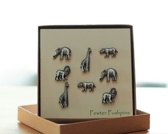 African Animal Pushpins- Zoo Corkboards- Safari Animals