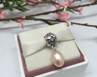 Authentic Pandora Pearl of Hearts Charm For Bracelet