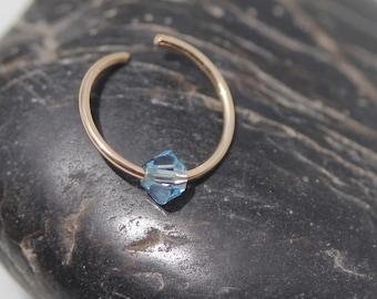 Crystal Fake septum Ring-Nose Ring-Fake Nose Ring-Septum Ring-Fake Septum-Fake Septum Ring-Septum-Gold Nose Ring-BodyJewelry-Crystal  Ring