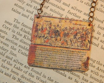 Iliad necklace Homer mixed media jewelry literature jewelry