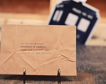 all of time and space postcard