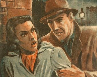 Vintage French 1950s Adventure Novel Magazine GANGSTER Film NOIR Assassin Spy