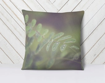 Nature Throw Pillow Cover | Home Decor | Art | Green Leaves