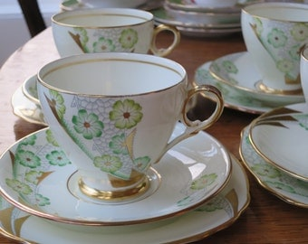 Royal stafford vintage china tea cup trio