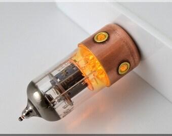 8/16/32/64/128GB ORANGE Porthole Pentode radio vacuum tube usb flash drive. Steampunk/Industrial style !!!FREE shipping!!!
